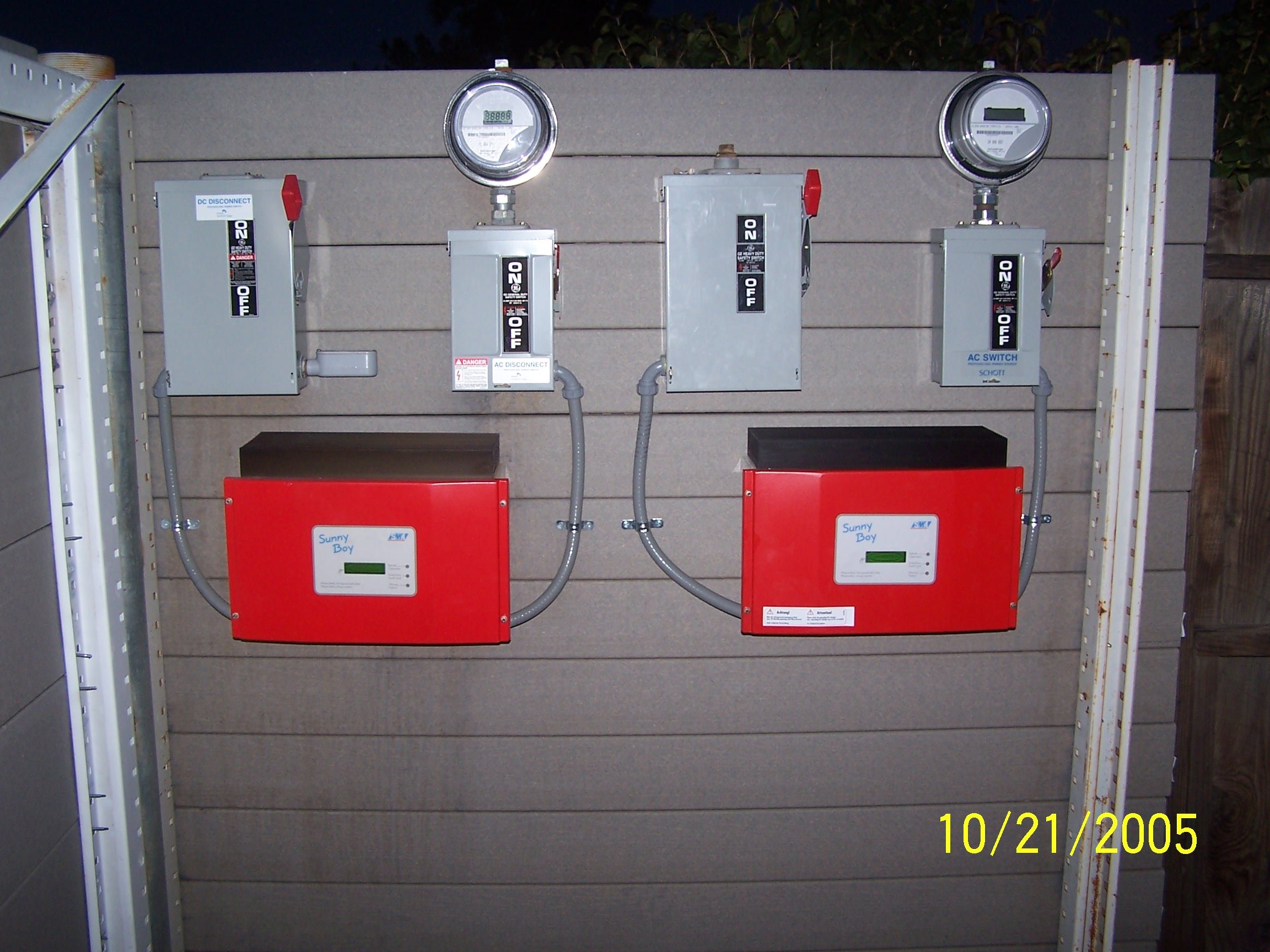 This Photo Is Of Two Sunnyboy 2500u Grid Tie Inverters